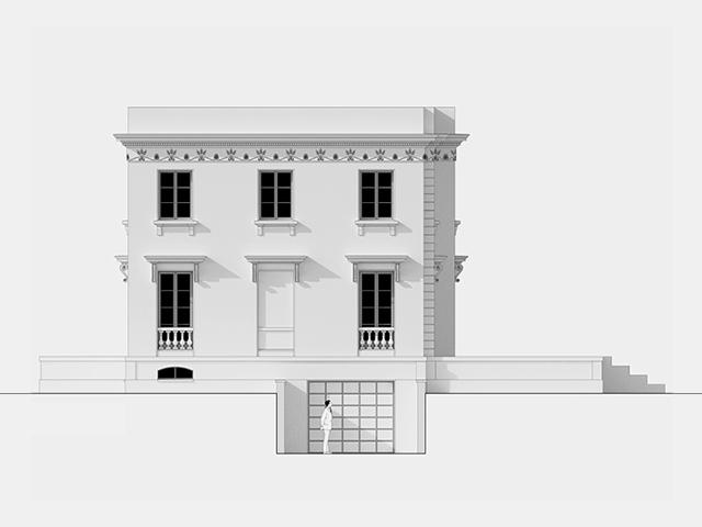 Plan maison petite facade plan before renovations - Maison plain pied architecte indian wells nov ...