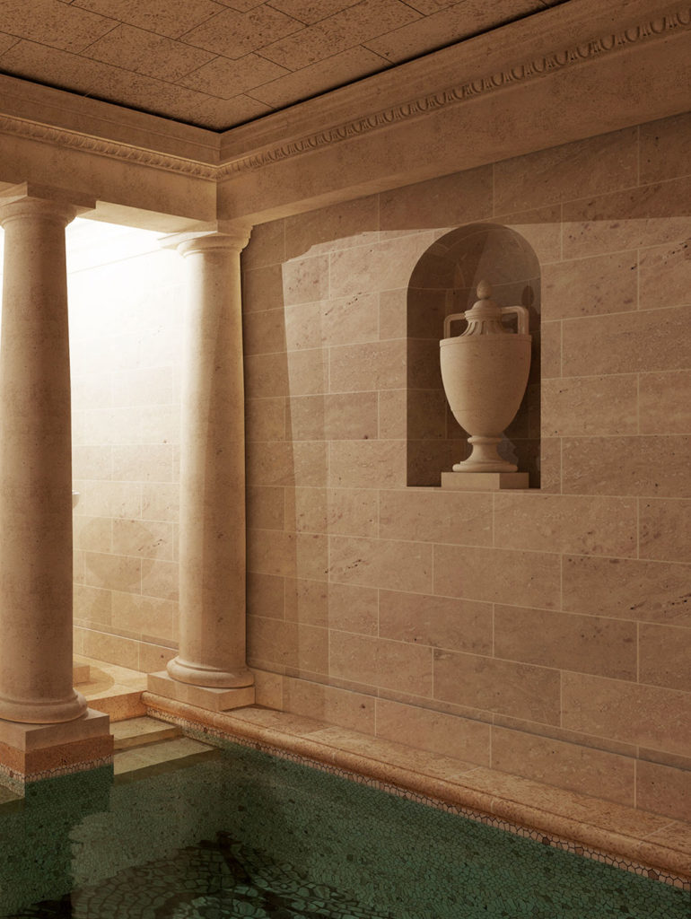 piscine en pierre de taille
